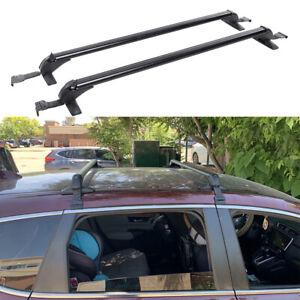 "43.3"" Universal Car Top Roof Rack Cross Bar Luggage Carrier Aluminum w/ Lock"