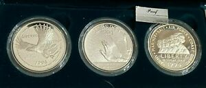 1994-P U.S. Mint 3 Piece Silver Dollar Proof Set