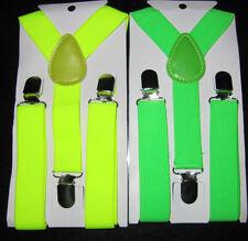 infantil tirantes amarillo brillante verde adjustabe Lona 1-6 Años