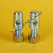 FREE UK Post - 2 x Bolt-on Lug Tabs for 8mm Lynch Pin - Brian James Trailer