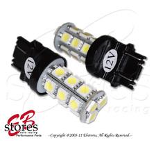 Set of 2pcs White Tail Light 18 SMD LED Light Bulb 3057 3357 3047 - 3157 1 Pair