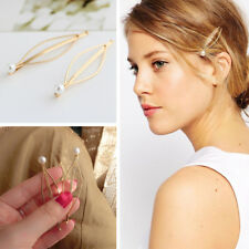 Fashion Elegant Women Lady Gold Pearl Hair Clip Claw Hairpins Hair Accessories