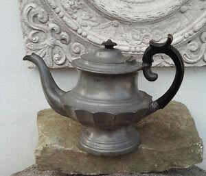 Antike englische Teekanne echt Victorian Zinn Queen Anne Jardiniere Rosenvase