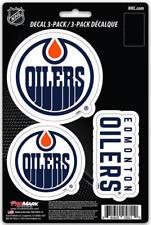 """(HCW) Edmonton Oilers 8"""" x 5.25"""" Die-Cut Premium Vinyl Decal Sheet Set of 3"""