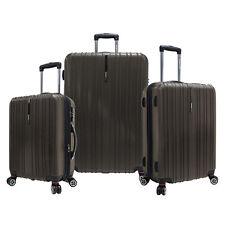 Traveler's Choice 3pc Tasmania Brown Polycarbonate Luggage Spinner Suitcase Set