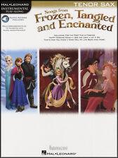Chansons de congelés, embrouillé & Enchanted ténor sax Play-Along livre de musique