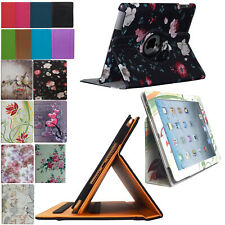Smart Case Cover Stand Pocket Folio Rotating for iPad Air 1(2013)/ Air 2 (2014)