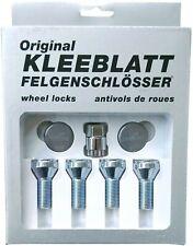 Original KLEEBLATT Felgenschlösser Felgenschloss 4x M14x1,5x28mm Kegelbund 60°