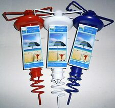 BEACH UMBRELLA HOLDER Assorted Colors Powder Coated Steel