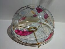 Partylite Calypso Mosaic Stained Glass Lampshade Replacement Brass Candle