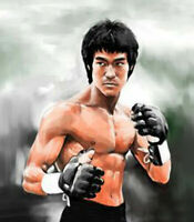 CHENPAT920 Strong and muscular Bruce Lee figures oil painting wall art on canvas