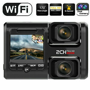 1080P Wifi FHD Dash Cam Infrared Night Vision Dual Lens Dash Camera Recorder GB