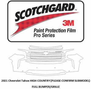 3M SCOTCHGARD PRO Paint Protection Film Suburban Tahoe 2021 HIGH COUNTRY BUMPER