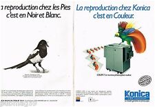 Publicité Advertising 1988 (2 pages) Le Photocopieur couleur Konica