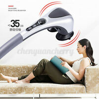 ELECTRIC HANDHELD BACK MASSAGER VIBRATION INFRARED HEATING MASSAGE DOUBLE