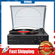 Vinyl Record, FM Stereo Radio,Bluetooth Music 3 IN 1 Player with Stereo Speakers