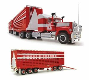 HIGHWAY REPLICAS BARKLY LIVESTOCK ROAD TRAIN WITH 3 TRAILERS 1:64 MODEL TRUCK