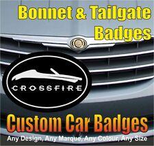 Chrysler Crossfire Roadster/Soft Top Grille et Hayon badges (noir/chrome)