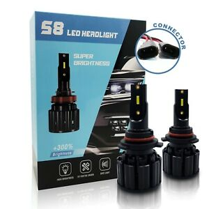 9006 HB4 Super Bright Low Beam 20000LM 6500K White LED Bulbs fit Jaguar