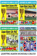 OCCASIONE!!! VENDO 4 Album figurine Calciatori Coppa RIMET 1954 1958 1962 1966