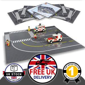 4 x Large Lego Compatible Base Plates Block Brick Boards Road Motorway 25.5cm UK