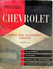 1933-1960 CHEVROLET PARTS AND ACCESSOIRES CARS CORVETTE TRUCKS EN ANGLAIS