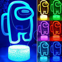 Among Us Game 7-color LED Night Light Change Acrylic 3D Touch Lamp Bday Gifts