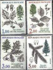 Francia 2514-2517 (edición completa) usado 1985 árboles