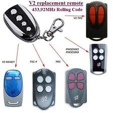 V2 Phoenix2, V2 Handy, TSC, V2 TXC, TRC 433.92MHz Compatibile Telecomando, Clone