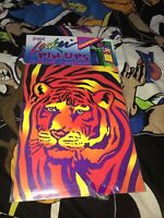 Vtg Lisa Frank Bengal Tiger Locker Pin Ups Poster Calendar 1988 USA Made Sealed