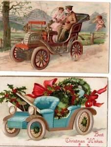 [21540] Christmas Greetings - Vintage  Cars - 1908