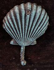 Cast Iron Verdigris  Scallop Shell Hook
