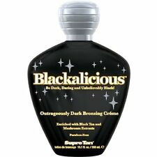 Supre BLACKALICIOUS Outrageously Dark Bronzing Creme Tanning Lotion 10.1 oz