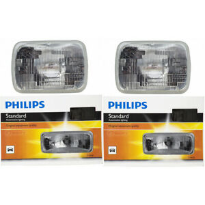 2 pc Philips High Low Beam Headlight Bulbs for Ford Aerostar Bronco Bronco mn