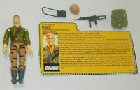 1988 GI Joe TF Tiger Force First Sergeant Duke v2 Figure w/ File Card *Complete