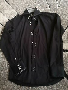 Claudio Luigi Schwarz Formal Shirt S