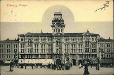 Trieste Triest Italien Ansichtskarte 1905 Municipio Partie am Rathaus Personen