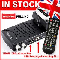 New FULL HD 1080P Mini Scart FREEVIEW HD Digital TV Receiver USB Recorder DVB-T2