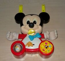 Vintage 1984 Rare Mickey Mouse Crib Busy Box Hang Up Toy
