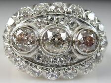 Vintage Diamond Princess Ring Old Mine Cut 2.00ctw Antique Art Deco