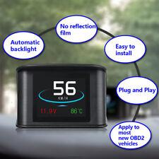 P10 Auto HUD Head Up Display Digitale Tachometer LCD Display OBD 2 Scanner Warn