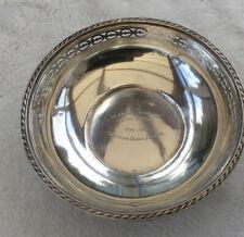 More details for solid silver presentation bowl hallmarked sheffield 1962 (141 grams)