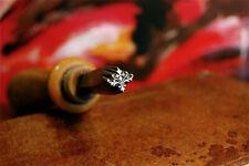 BEAU FER À DORER fleuron à motif ancien W.LEO Stuttgart N°1528 (11mmX9mm)