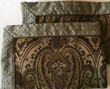 "Set Of Two (2) Beautiful King Size Pillow Shams Paisley Tapestry, 40"" x 25"" each"
