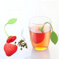 Leaf Spice Design Tea Type Loose Infuser Strawberry Strainer Filter