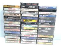 Lot of 46 Country Music Cassette Tapes Brooks Jennings Nelson Reed Denver Travis