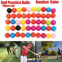 20Pcs Golf Practice Training Sports Ball Whiffle Airflow Hollow Balls Portable