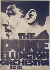 Duke Ellington Orchestra Concert Tour Poster 1973 Kieser