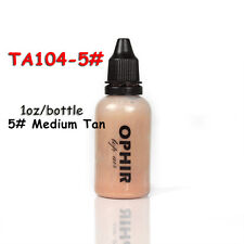 OPHIR Pro Spray Air Makeup 1oz/Bottle 5# Medium Tan  Foundation for Airbrush Kit