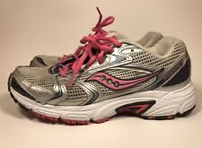 Saucony Oasis 2 Grid - Silver Pink Women's Running Walking Sneakers Shoes Size 8